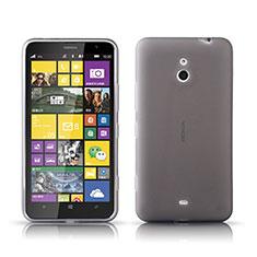 Coque Ultra Fine Silicone Souple Transparente pour Nokia Lumia 1320 Gris