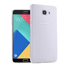 Coque Ultra Fine Silicone Souple Transparente pour Samsung Galaxy A9 Pro (2016) SM-A9100 Blanc
