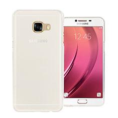 Coque Ultra Fine Silicone Souple Transparente pour Samsung Galaxy C7 SM-C7000 Blanc