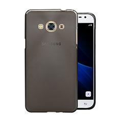 Coque Ultra Fine Silicone Souple Transparente pour Samsung Galaxy J3 Pro (2016) J3110 Gris