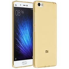 Coque Ultra Fine Silicone Souple Transparente pour Xiaomi Mi 5 Or