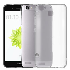 Coque Ultra Fine Silicone Souple Transparente T02 pour Huawei Enjoy 5S Gris