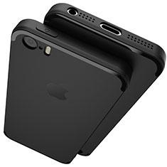Coque Ultra Fine Silicone Souple U02 pour Apple iPhone SE Noir