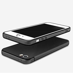 Coque Ultra Fine Silicone Souple U04 pour Apple iPhone SE Noir