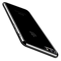 Coque Ultra Fine TPU Souple Housse Etui Transparente C01 pour Apple iPhone 8 Noir