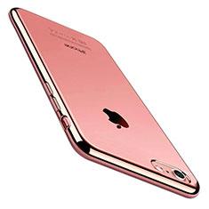 Coque Ultra Fine TPU Souple Housse Etui Transparente C01 pour Apple iPhone 8 Or Rose