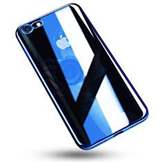 Coque Ultra Fine TPU Souple Housse Etui Transparente C02 pour Apple iPhone 8 Bleu