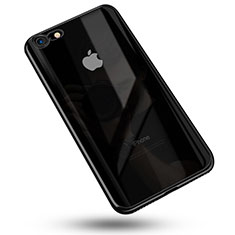 Coque Ultra Fine TPU Souple Housse Etui Transparente C02 pour Apple iPhone 8 Noir