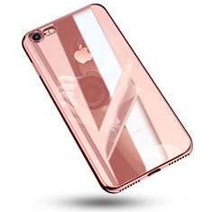 Coque Ultra Fine TPU Souple Housse Etui Transparente C02 pour Apple iPhone 8 Or Rose
