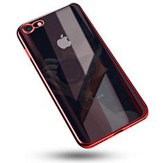Coque Ultra Fine TPU Souple Housse Etui Transparente C02 pour Apple iPhone 8 Rouge