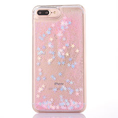 Coque Ultra Fine TPU Souple Housse Etui Transparente Fleurs T01 pour Apple iPhone 8 Plus Rose