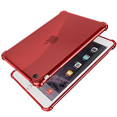 Coque Ultra Fine TPU Souple Housse Etui Transparente H01 pour Apple iPad Mini 3 Rouge