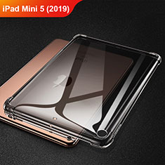 Coque Ultra Fine TPU Souple Housse Etui Transparente H01 pour Apple iPad Mini 5 (2019) Gris