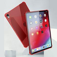 Coque Ultra Fine TPU Souple Housse Etui Transparente H01 pour Apple iPad Pro 11 (2018) Rouge