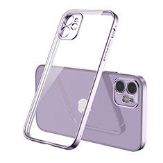 Coque Ultra Fine TPU Souple Housse Etui Transparente H01 pour Apple iPhone 12 Max Violet