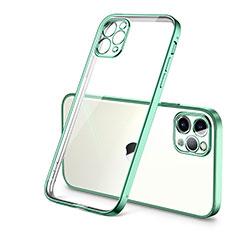 Coque Ultra Fine TPU Souple Housse Etui Transparente H01 pour Apple iPhone 12 Pro Max Vert