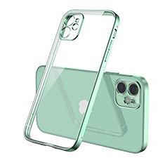 Coque Ultra Fine TPU Souple Housse Etui Transparente H01 pour Apple iPhone 12 Vert