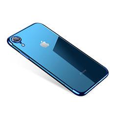 Coque Ultra Fine TPU Souple Housse Etui Transparente H01 pour Apple iPhone XR Bleu