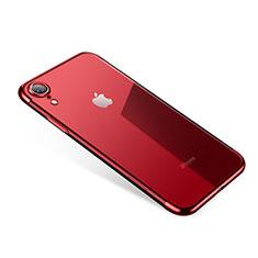 Coque Ultra Fine TPU Souple Housse Etui Transparente H01 pour Apple iPhone XR Rouge