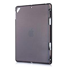 Coque Ultra Fine TPU Souple Housse Etui Transparente H01 pour Apple New iPad 9.7 (2017) Noir