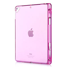 Coque Ultra Fine TPU Souple Housse Etui Transparente H01 pour Apple New iPad 9.7 (2017) Rouge