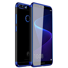 Coque Ultra Fine TPU Souple Housse Etui Transparente H01 pour Huawei Enjoy 7S Bleu