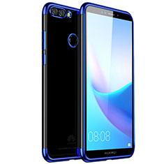 Coque Ultra Fine TPU Souple Housse Etui Transparente H01 pour Huawei Enjoy 8 Plus Bleu