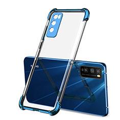 Coque Ultra Fine TPU Souple Housse Etui Transparente H01 pour Huawei Enjoy Z 5G Bleu