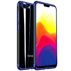 Coque Ultra Fine TPU Souple Housse Etui Transparente H01 pour Huawei Honor 10 Bleu