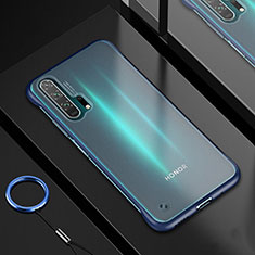 Coque Ultra Fine TPU Souple Housse Etui Transparente H01 pour Huawei Honor 20 Pro Bleu