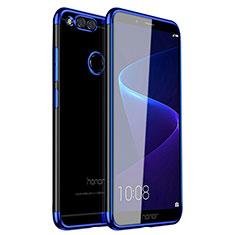 Coque Ultra Fine TPU Souple Housse Etui Transparente H01 pour Huawei Honor 7X Bleu