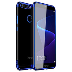 Coque Ultra Fine TPU Souple Housse Etui Transparente H01 pour Huawei Honor 8 Pro Bleu