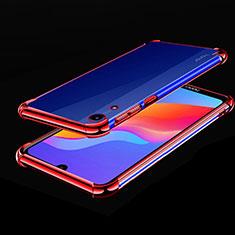 Coque Ultra Fine TPU Souple Housse Etui Transparente H01 pour Huawei Honor 8A Rouge