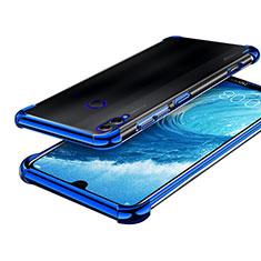 Coque Ultra Fine TPU Souple Housse Etui Transparente H01 pour Huawei Honor 8X Max Bleu