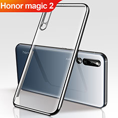 Coque Ultra Fine TPU Souple Housse Etui Transparente H01 pour Huawei Honor Magic 2 Noir