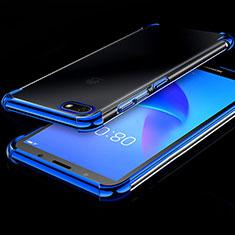 Coque Ultra Fine TPU Souple Housse Etui Transparente H01 pour Huawei Honor Play 7 Bleu