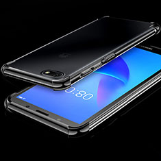 Coque Ultra Fine TPU Souple Housse Etui Transparente H01 pour Huawei Honor Play 7 Noir