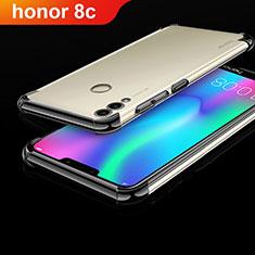 Coque Ultra Fine TPU Souple Housse Etui Transparente H01 pour Huawei Honor Play 8C Noir