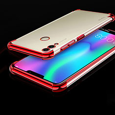 Coque Ultra Fine TPU Souple Housse Etui Transparente H01 pour Huawei Honor Play 8C Rouge