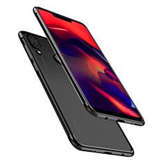 Coque Ultra Fine TPU Souple Housse Etui Transparente H01 pour Huawei Honor Play Noir