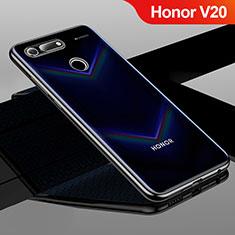 Coque Ultra Fine TPU Souple Housse Etui Transparente H01 pour Huawei Honor V20 Noir