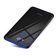 Coque Ultra Fine TPU Souple Housse Etui Transparente H01 pour Huawei Honor V9 Play Bleu