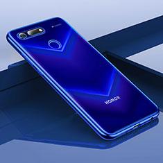 Coque Ultra Fine TPU Souple Housse Etui Transparente H01 pour Huawei Honor View 20 Bleu
