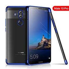 Coque Ultra Fine TPU Souple Housse Etui Transparente H01 pour Huawei Mate 10 Pro Bleu