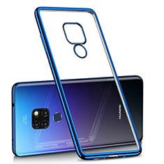 Coque Ultra Fine TPU Souple Housse Etui Transparente H01 pour Huawei Mate 20 Bleu