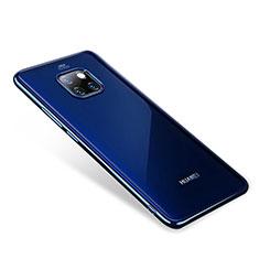 Coque Ultra Fine TPU Souple Housse Etui Transparente H01 pour Huawei Mate 20 Pro Bleu