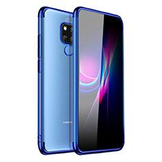 Coque Ultra Fine TPU Souple Housse Etui Transparente H01 pour Huawei Mate 20 X Bleu