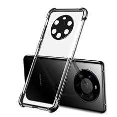 Coque Ultra Fine TPU Souple Housse Etui Transparente H01 pour Huawei Mate 40 Pro+ Plus Noir
