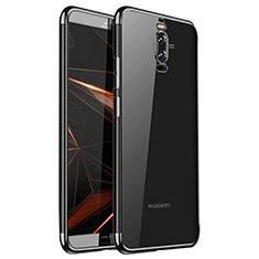 Coque Ultra Fine TPU Souple Housse Etui Transparente H01 pour Huawei Mate 9 Pro Noir