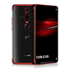 Coque Ultra Fine TPU Souple Housse Etui Transparente H01 pour Huawei Mate RS Rouge